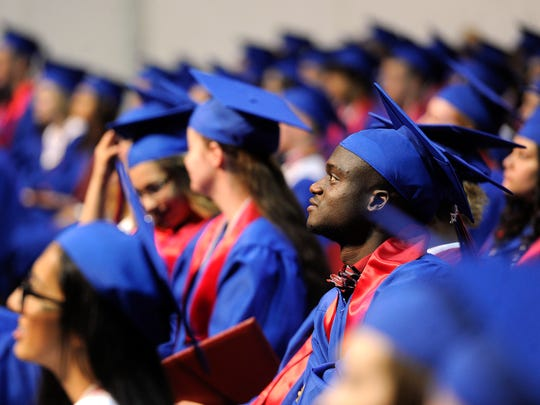 Cooper graduates listen to valedictorian Sterling Fahey