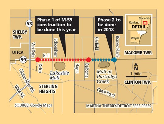 Hall Road reconstruction map