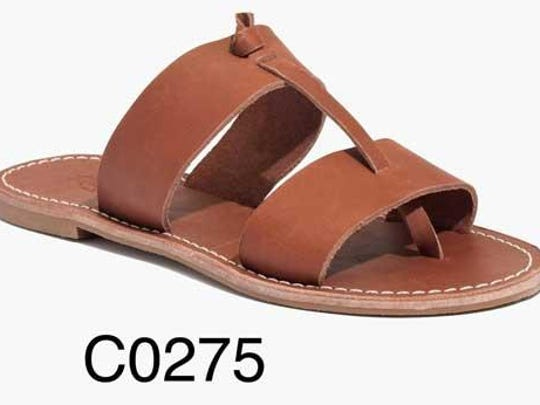 The metal shank of all Madewell Sightseer sandals can dislodge and break through bottom of the outsole, posing a fall hazard.