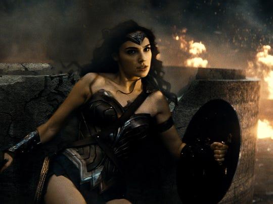 Wonder Woman (Gal Gadot) lives for battle in 'Batman v Superman: Dawn of Justice.'