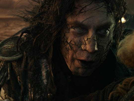 """The evil Capt. Salazar (Javier Bardem) will haunt the heroes in """"Pirates of the Caribbean: Dead Men Tell No Tales."""""""