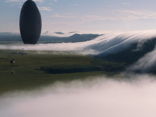 """Spacecrafts touch down to earth in the sci-fi flick """"Arrival."""""""