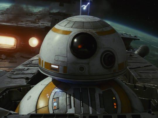 "BB-8 in ""Star Wars: The Last Jedi"""