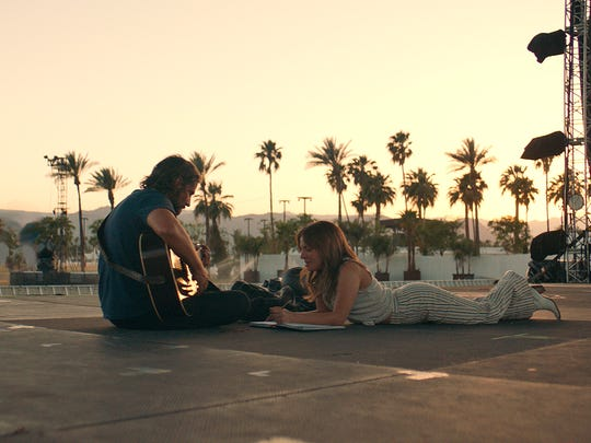 "In ""A Star Is Born,"" Jackson (Bradley Cooper) and Ally"