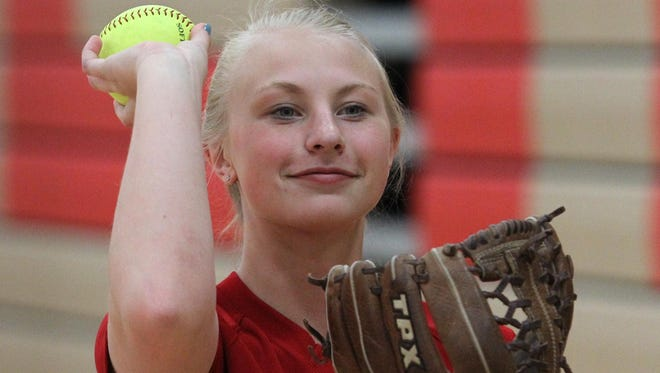 Olivia Zipperer was a first team selection to the all-Wisconsin Valley Conference softball squad last spring.