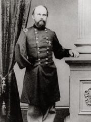 Gen. George Stannard. The general's right arm was amputated after he was wounded in battle in 1864.