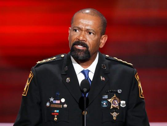 Former Milwaukee County Sheriff David A. Clarke Jr.