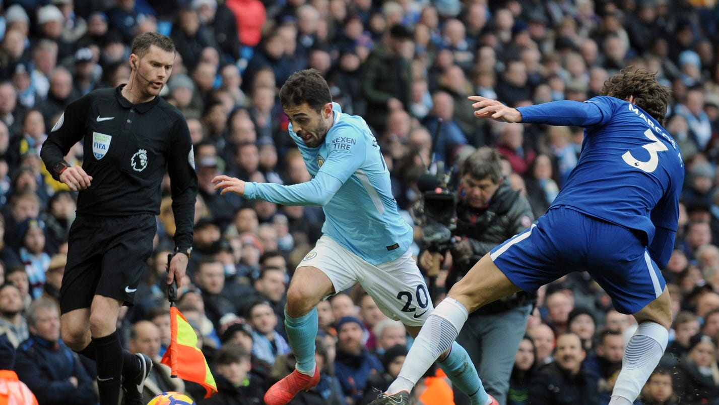 Man City shows gulf in class in beating Chelsea 1-0 in EPL