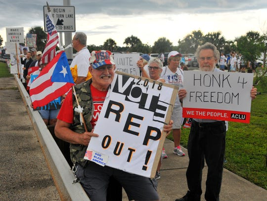 Hundreds showed at the Eau Gallie Causeway Saturday