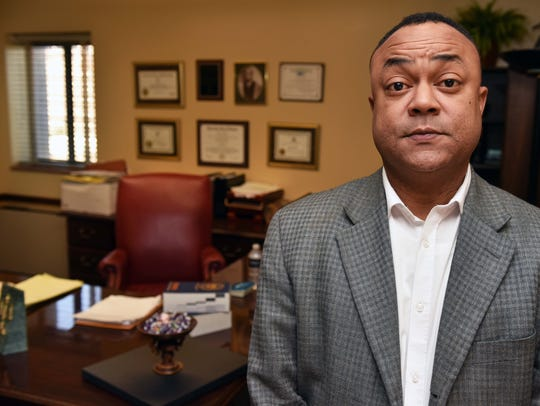 District Attorney Robert Shuler Smith at his office