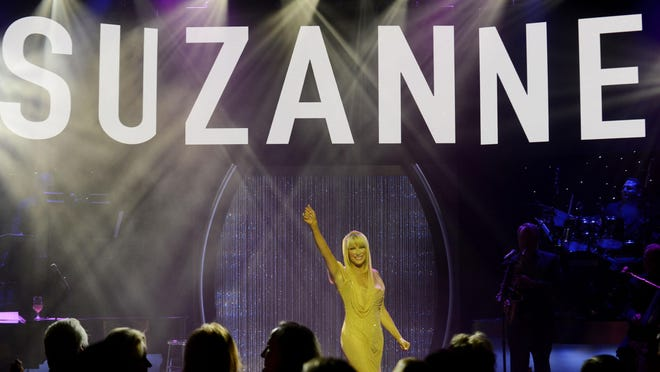 "Suzanne Somers starring in ""Suzanne Sizzles,"" a multi-media act with a four-piece band at Westgate Las Vegas Resort & Casino."