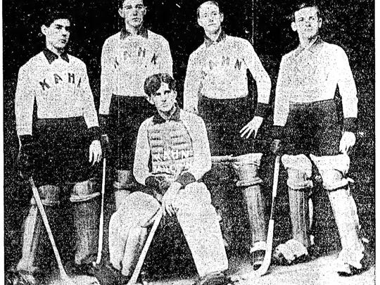 The Kahn amateur roller polo team of Indianapolis in 1903.