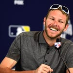 SAN DIEGO, CA - JULY 11:  Chris Sale No. 49 of the Chicago White Sox smiles as he speaks to media as he is introduced as the starting pitcher for the American League during Media Availability for the 87th Annual MLB All-Star game at the Manchester Grand Hyatt on July 11, 2016 in San Diego, California.  (Photo by Harry How/Getty Images)