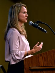 Katie Alford, the president and CEO of Community Foundation of Abilene, encouraged Star Students on Tuesday to pursue their passions, be flexible and research their career fields.