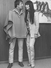 Sonny Bono not only accepted the gift of a ruana in Abilene, he wore it. Cher had one just like it.