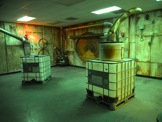 Tank America's 6,000-square-foot tactical military laser tag arena features themed rooms.