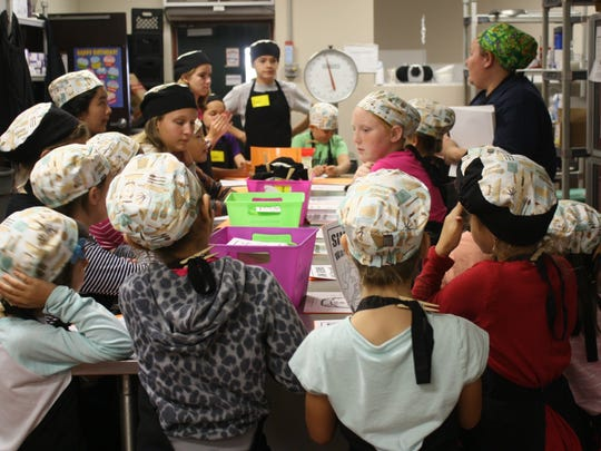Jamie Skinner, cafeteria manager at Ralph M. Williams Junior Elementary, meets with her culinary club every Wednesday after school. Skinner was named the 2017 Brevard Public Schools Employee of the Year.