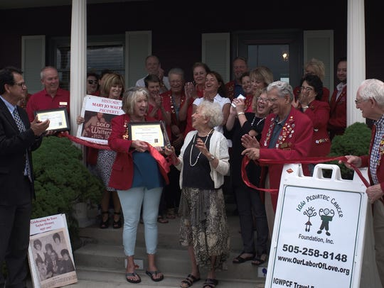 A ribbon cutting for historic Mary Jo Walters Property