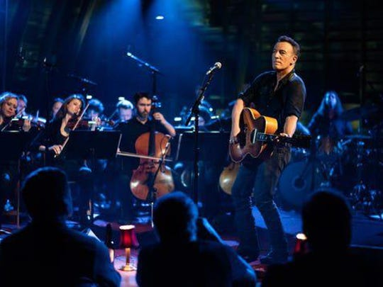 "Bruce Springsteen performed with an orchestra in his barn in Colts Neck, New Jersey, for ""Western Stars."""