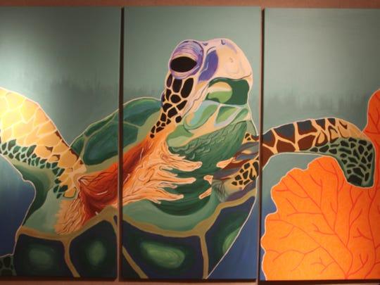 "Godby High School junior Paris Fleck painted ""Island"