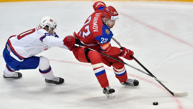 Roman Lyubimov opened some teams' eyes at the World Championships this spring. The Flyers inked him to a one-year contract Monday.