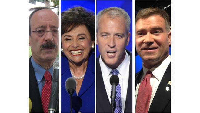 Hudson Valley area U.S. Reps. Eliot Engel (left to right), Nita Lowey, Sean Maloney and Chris Gibson spent between between 96.1 and 99.5 percent of their office budgets last year.