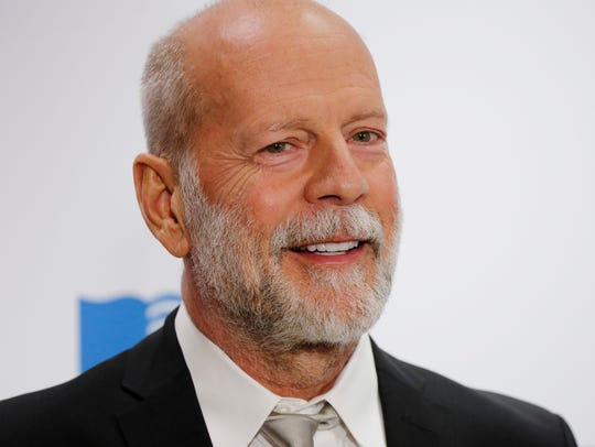 Actor Bruce Willis arrives for the Library of Congress