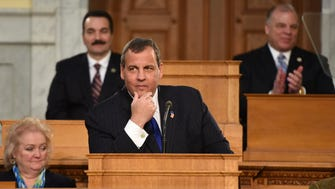 Gov. Chris Christie delivers the State of the State Address to 216th Session of the New Jersey State Legislature and to the people of New Jersey on Jan. 13, 2015.