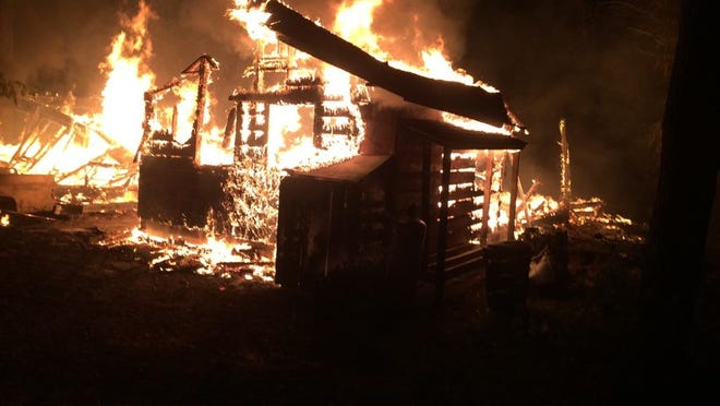 A Chambers Island cabin was destroyed by fire early Thursday morning.