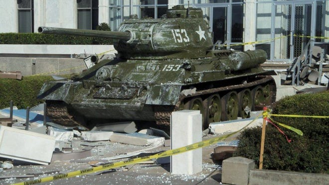 """The Military Veterans Museum of Oshkosh had its Russian T-34 tank appear in Marvel's new film, """"Ant-Man."""""""