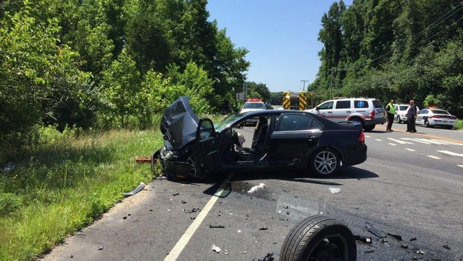 Three people were injured Thursday in a two-car crash on Lincoln Avenue, just south of Landis Avenue.