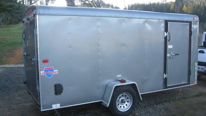 The SenateAires Chorus' newly purchased trailer was stolen from the grounds of the Knights of Columbus Hall in August. The single-axle aluminum LoadRunner is 20 feet long. If you see it, contact the Salem Police Department at (503) 588-6123.