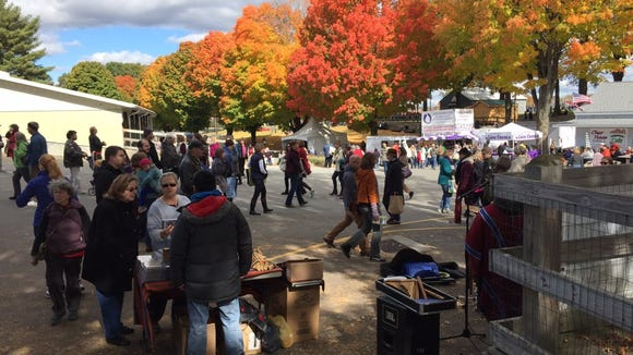 Rhinebeck 2015: It was a beautiful autumn day for looking at yarn at Rhinebeck (NY Sheep & Wool Festival.)