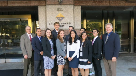 American Chemical Society Student Ambassadors with Peterman and Foy at ACS National Headquarters in Washington, DC.