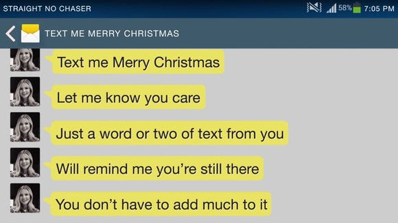 Text Me Merry Christmas.Kristen Bell Straight No Chaser Text Me Merry Christmas Song