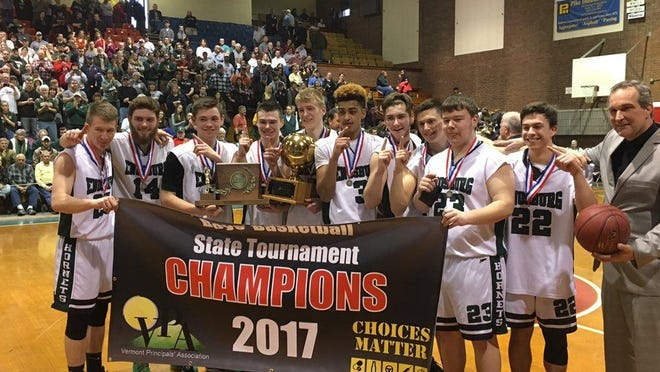 Enosburg won the Division II boys basketball title on Saturday in Barre.