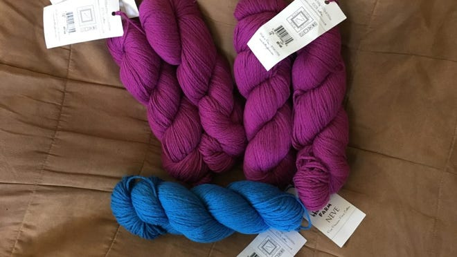 This is the ultra-soft Neve cotton yarn by Juniper Moon Farm that I bought at the Yarn Attic during the NJ Wool Walk.