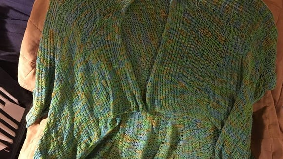 My first Kiama sweater was this one, knitted with Southwest Trading Company bamboo yarn. I wore it so much last summer that it started to unravel at the bottom, but I was able to repair it.