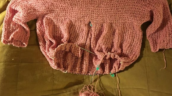 The pink Kiama sweater