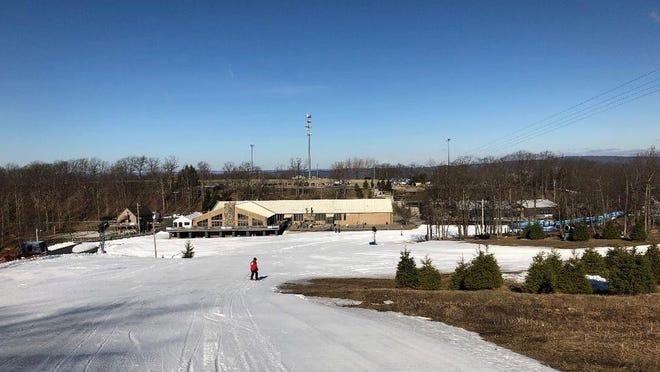 The Montage Mountain ski base.