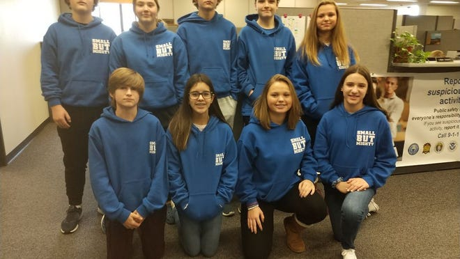 Hamburg students attended the state board meeting last week.