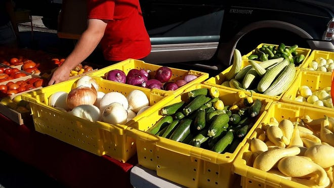 Fresh fruits and veggies are offerings from Julia's Fruit Stand at the Dunsmuir Farmers Market, held Thursdays from 4 to 7 p.m.