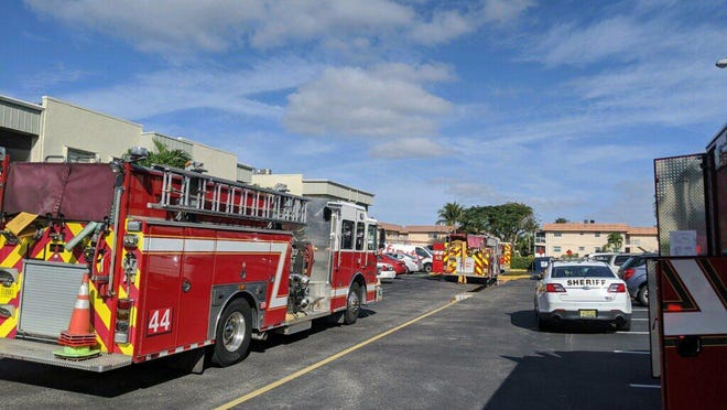 Fire-Rescue responded at 10:26 a.m. to reports of a fire in the 300 block of Monaco G.