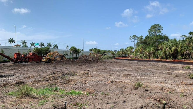 Cleared land parallel to the Interstate 95 southbound entrance ramp from Alternate A1A on the southeastern edge of the Florida Power & Light site in Palm Beach Gardens.