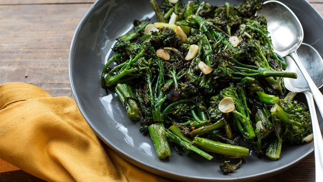 """""""Dragged"""" broccoli, also known as strascinati, features cooked broccoli that remains firm."""