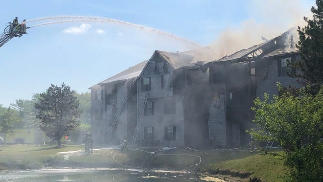 Multiple fire departments, including units from Columbus and Norwich and Washington townships, responded Saturday morning, July 4, to a blaze at the Crystal Lake Apartments complex on the south side of Davidson Road in Hilliard.