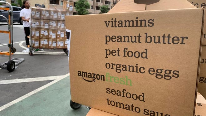 As of Wednesday, online food purchases at Amazon and Walmart are OK for people receiving benefits through the Supplemental Nutrition Assistance Program.