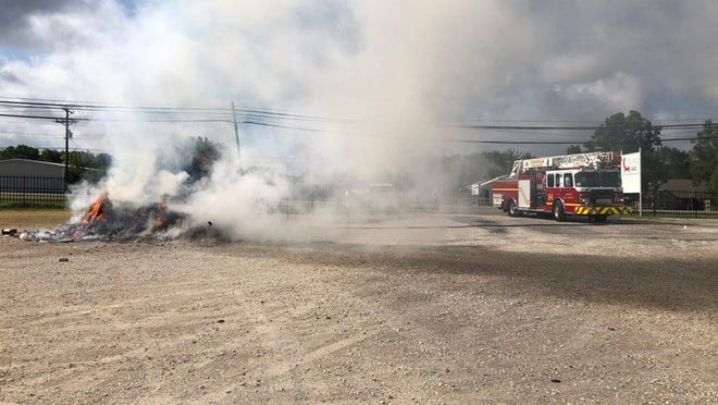 Combustible materials are believed to be the cause of a fire that occured in a Sherman garbage truck Thursday afternoon.