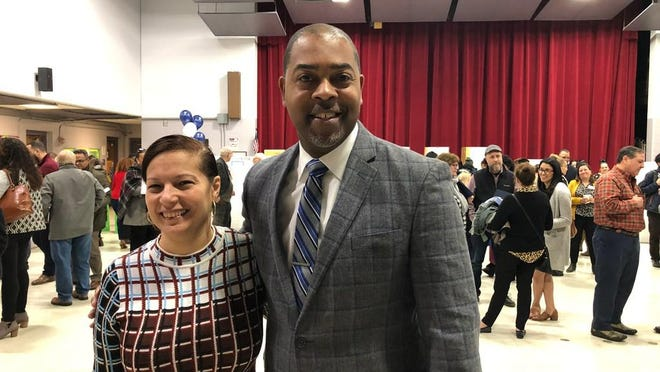 """Providence School Supt. Harrison Peters, shown with state education Commissioner Angélica Infante-Green at """"Community Day"""" last March at Asa Messer Elementary School, says Providence schools will offer the option of remote learning for all students."""