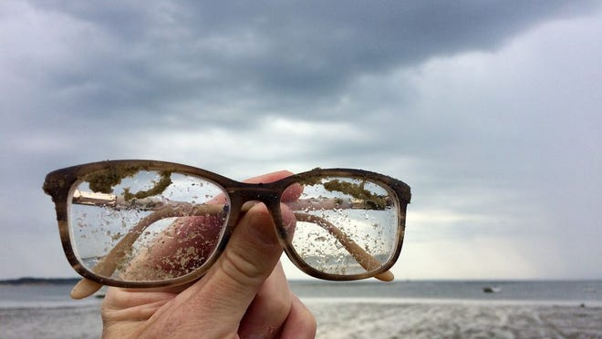 Can you believe it? After a night in Davy Jones's locker, these glasses were found at Powers Landing in Wellfleet.